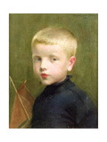 Portrait of a Boy with a Model Sailing Boat, 1893 Giclee Print by Marianne Stokes