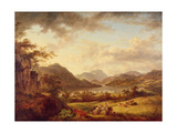 A View of Ullswater from Gowbarrow, 1801 Giclee Print by Julius Caesar Ibbetson