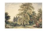 New College Gardens at Oxford, 1831 Giclee Print by Frederick Nash