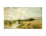 Young Reed Gatherers Giclee Print by Charles James Lewis