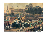 St. Patrick's Day Parade in America, Union Square, 1870s Giclee Print