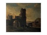 Italian Landscape with Figures Giclee Print by Jan Asselijn
