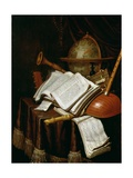 Vanitas with a Globe, Musical Scores and Instruments, 1692 Giclee Print by Edwaert Colyer or Collier