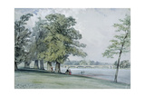 View on the Serpentine, Hyde Park Giclee Print by William Callow