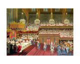 The Royal Banquet, the Bringing of the First Course, 19th July 1821 Giclee Print by Robert The Younger Havell