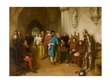 The Warning before Flodden, 1874 Giclee Print by John Faed