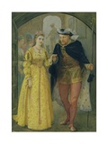 Henry Viii and Anne Boleyn Gicleetryck av Hopkins, Arthur