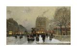 Paris Street Scene Giclee Print by Luigi Loir
