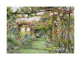 The Rose Pergola, Blackhurst House, Tunbridge Wells, Kent Giclee Print by Ernest Arthur Rowe