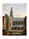 Smedestraat with a View of the Groote Market and St. Bavo's Church, Haarlem, 1660-70 Giclee Print by Gerrit Adriaensz Berckheyde