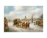 The Uxbridge Coach Near Hillingdon Giclee Print by Henry Jones