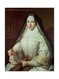 Frances Woollascot, an Augustinian Nun Giclee Print by Nicolas de Largilliere