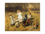 Ring-A-Ring-A-Roses-Oh Giclee Print by Frederick Morgan