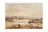 Port Adelaide, from the 'South Australia Illustrated', 1846 Giclee Print by George French Angas