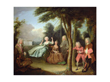 Viscount Tyrconnel with His Family C.1725-6 Giclee Print by Philippe Mercier