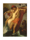The Fisherman and the Syren: from a Ballad by Goethe, 1857 Gicleetryck av Frederick Leighton