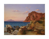 Rocky Landscape, 19th Century Giclee Print by Antal Ligeti