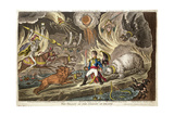 'The Valley of the Shadow of Death' by James Gillray, 1808 Giclée-tryk