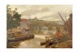 The Old Bridge, Maidstone, View Looking South Giclee Print by Albert Goodwin