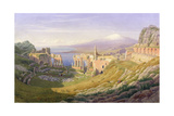 Taormina, Sicily, 1876 Giclee Print by William J. Ferguson