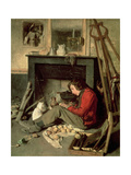 The Corner of the Studio, 1845 Giclee Print by Octave Tassaert