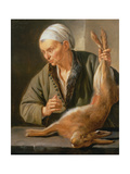 Woman with a Dead Hare, 1675 Giclee Print by Jacob Toorenvliet