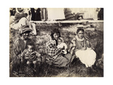 Group of Maories, Mercer, C.1895 Giclee Print by Josiah Martin