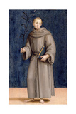 St. Anthony of Padua, Panel from the Predella of the Colonna Altarpiece, C.1502 Giclee Print by  Raphael