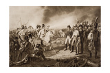 Emperor Francis I at the Battle of Leipzig, Illustration from 'The Outline of History' by H.G.… Giclee Print by J.P. Krapft
