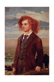 Portrait of Algernon Charles Swinburne (1837-1909) Giclee Print by William Bell Scott