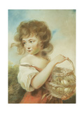 The Girl with the Basket of Eggs Giclee Print by John Russell