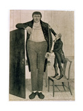 Mr O'Brien, the Irish Giant, the Tallest Man in the known World Being Near Nine Feet High, 1803 Giclee Print by John Kay