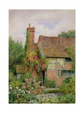 An Old World Cottage Garden Giclee Print by Thomas Nicholson Tyndale