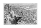 Bruce's Address at Bannockburn Giclee Print by William Bell Scott