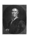Mr John Broughton, Engraved by J. Faber the Younger (C.1695-1756), 1757 Giclee Print by John Ellys