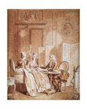 The Declaration of Pregnancy Giclee Print by Jean Michel the Younger Moreau