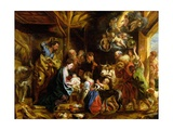 The Nativity Giclee Print by Jacob Jordaens