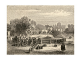 Fountain of Cibeles, Madrid, Illustration from 'spanish Pictures' by the Rev. Samuel Manning Giclee Print