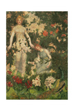 Leontium and Ternissa in the Garden of Epicurus Giclee Print by William Stott