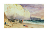 The Undercliff, 1828 Giclee Print by Richard Parkes Bonington