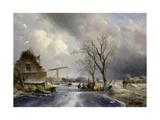 Winter Scene, 1846 Giclee Print by Johan-Barthold Jongkind