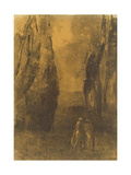 Lovers in a Rocky Landscape Giclee Print by Odilon Redon