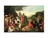 The Israelites in the Desert Giclée-Druck von Hendrik van the Elder Balen