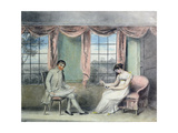 A Woman and Her Beau Spinning Thread Giclee Print by Isabella Downman