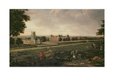 Euston Hall and Church Giclee Print by  English School
