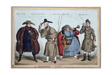 'A Quartette in Character': George IV, Wellington, Lady Conynham, Robert Peel, 1829 Giclee Print by William Heath