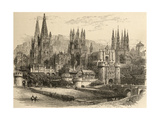 Bridge, Gateway and Cathedral of Burgos, Illustration from 'spanish Pictures' by the Rev. Samuel… Giclee Print