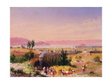 A View of Mexico City with an Encampment, 1878 Giclee Print by Conrad Wise Chapman