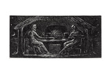 Thenot and Colinet Sup Togther, Illustration from Dr. Thornton's 'The Pastorals of Virgil' Giclee Print by William Blake