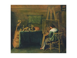 The Artist in His Studio, C.1640 Giclee Print by Hendrick Gerritsz Pot